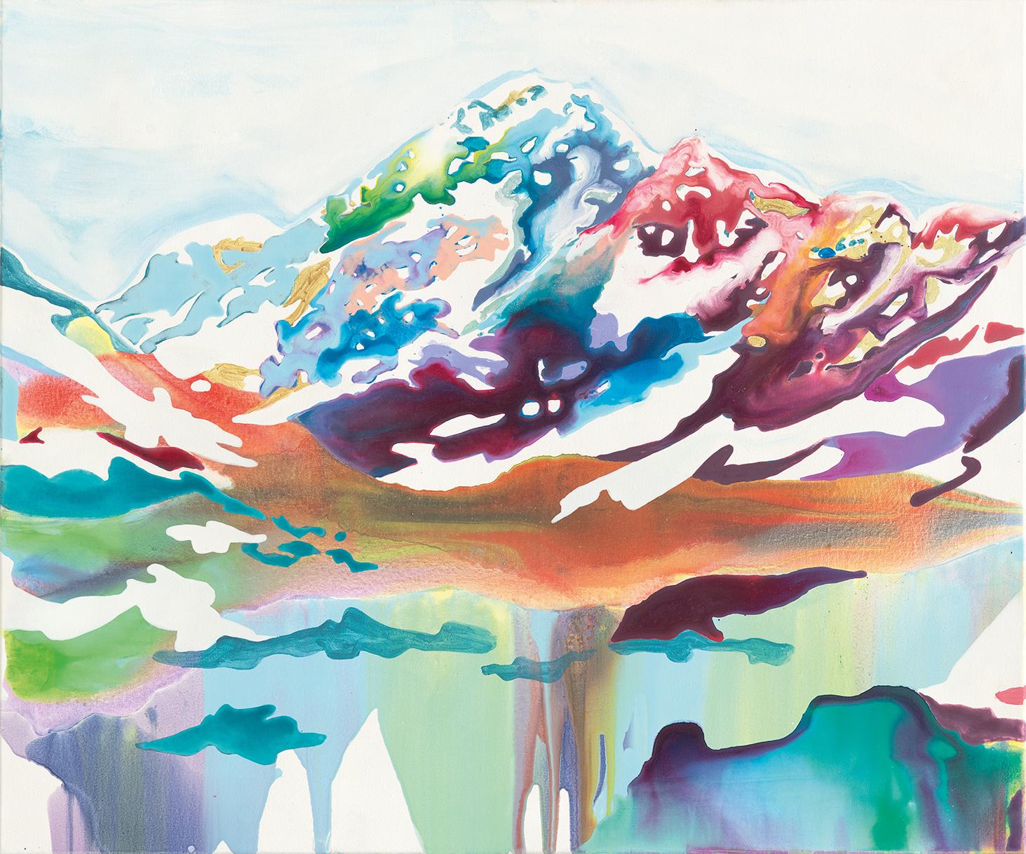 Eine andere Welt  |2016 |Tusche, Acryl auf Leinwand | 100 x 120 cm