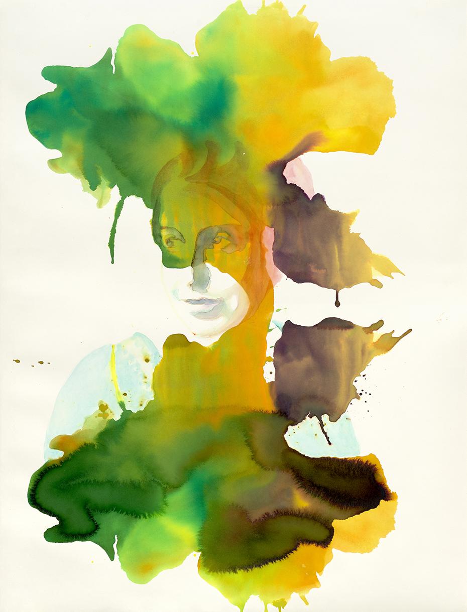 Lou | Aquarell auf Büttenpapier | 92 x 70 cm