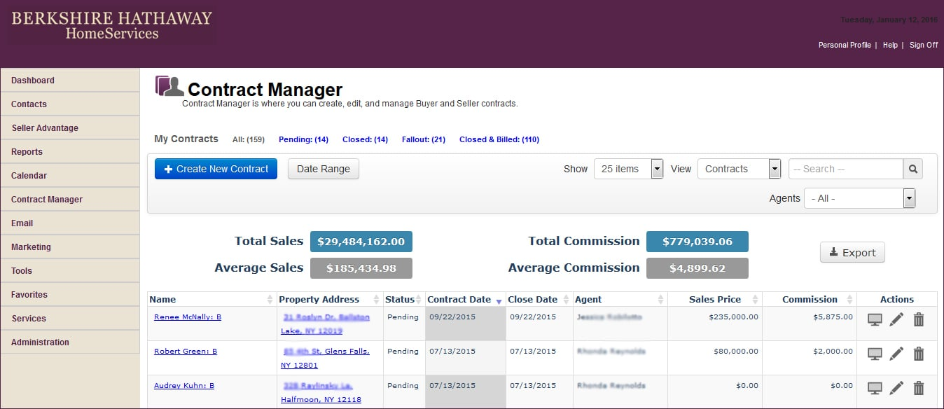 Create, edit and manage Buyer & Seller contracts.