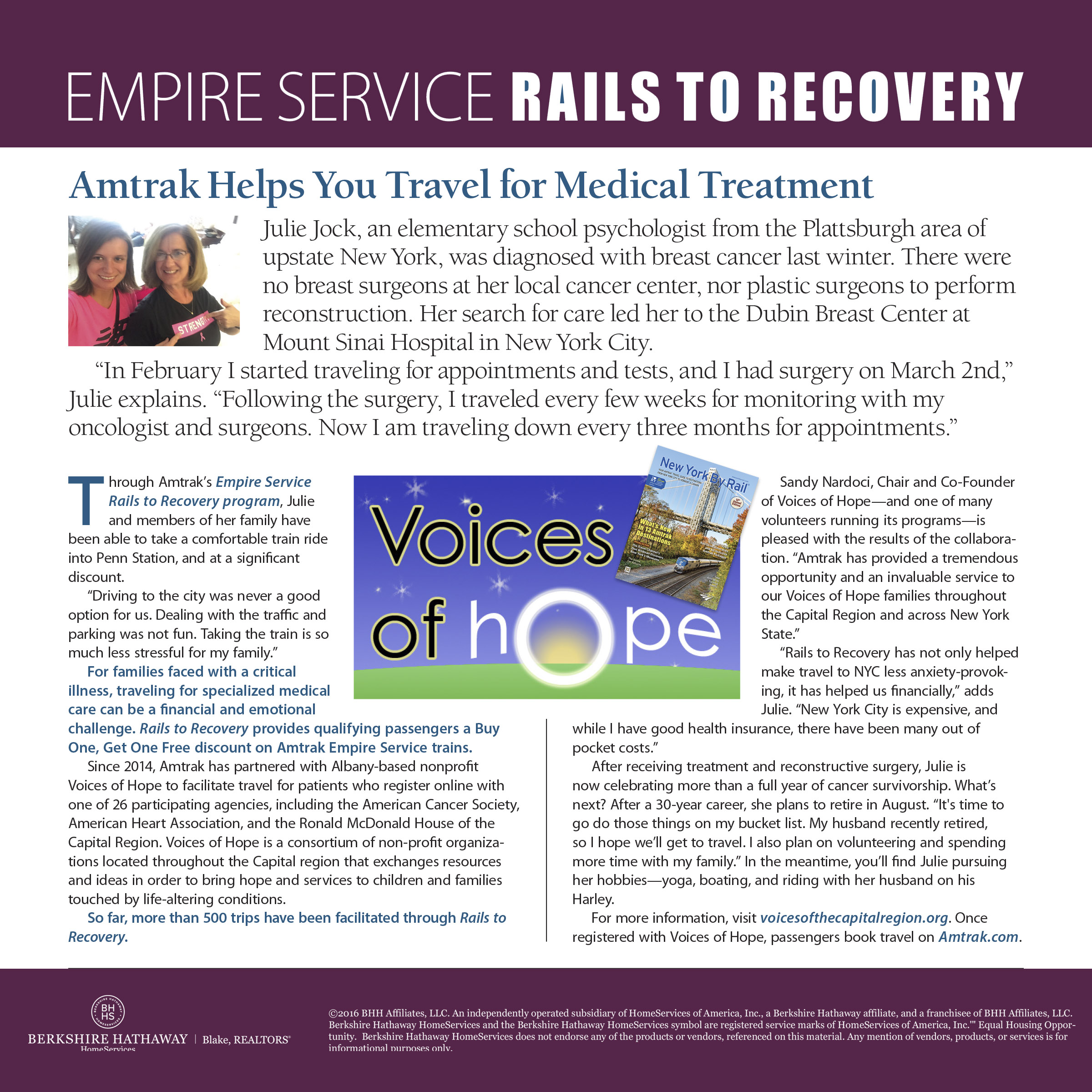 "June 2016 Article ""New York By Rail"" Magazine."