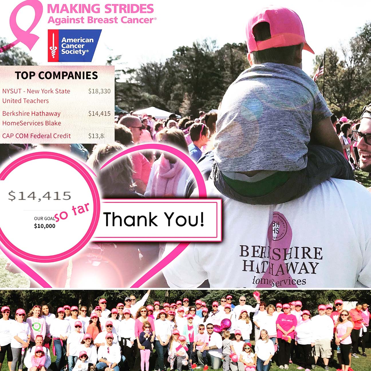 """Thank you to everyone who supported us on this initiative ... We sincerely appreciate it! Total raised for 2017 was $14,415.  Register to walk with """"Team Blake"""" on Sunday, October 21st at Washington Park here ."""