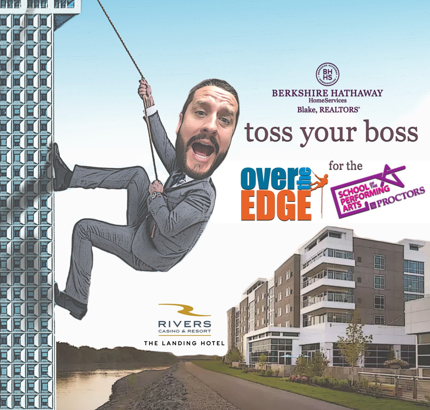 """Thank you to all who supported """"Toss the Boss"""" on Saturday, September 1st 2018 at The Landing Hotel at River's Casino. Fundraising for this event has ended. Here for fundraising page ."""