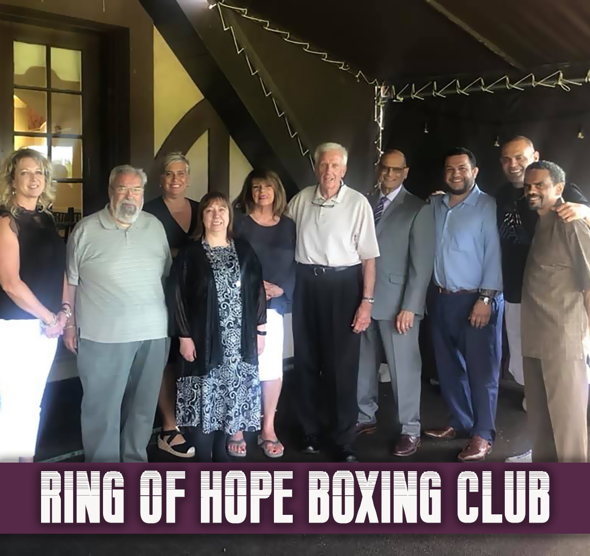 "The 2019 Board of Directors for the ""Ring of Hope"" Boxing Club."