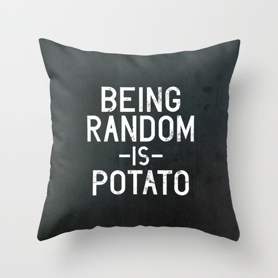 Random pillow by Vectored Life