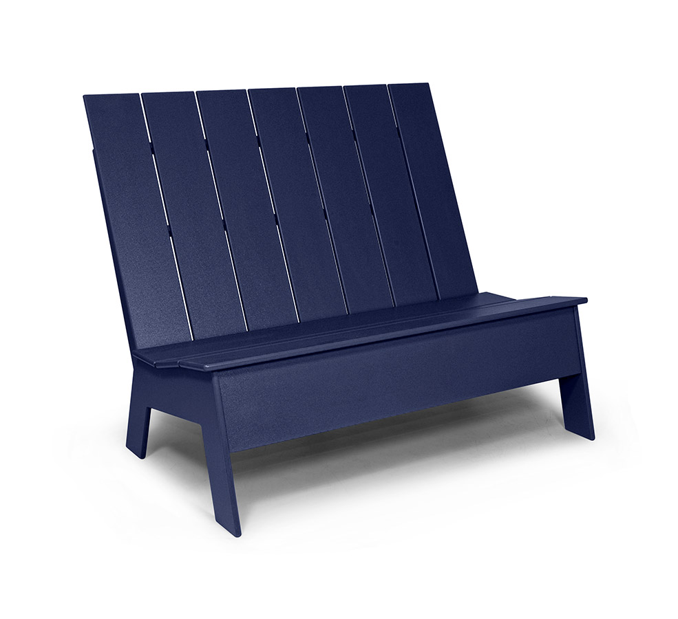 Picket bench high back