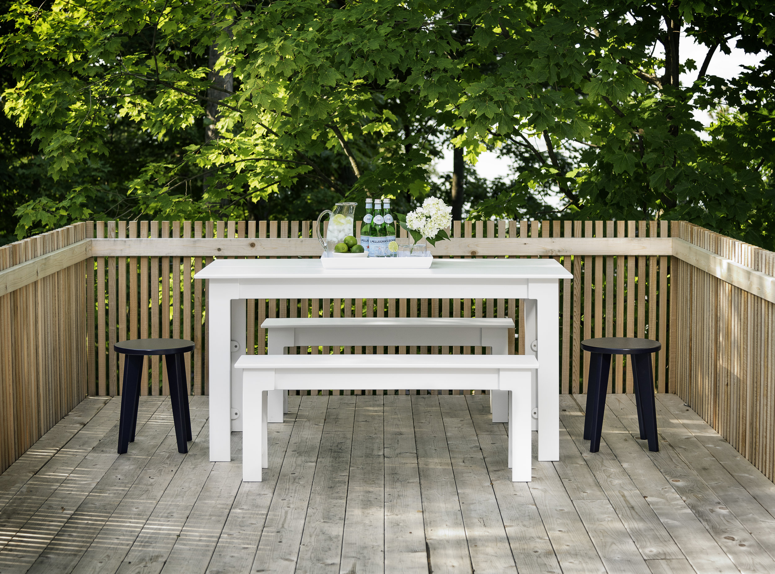 Loll Designs Fresh Air table and bench seats made from 100% recycled milk bottles