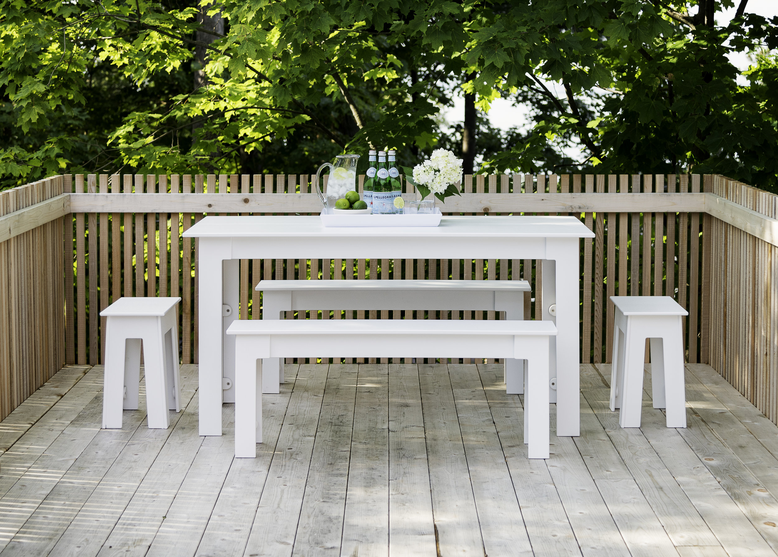 Feels good - Production of the Fresh Air table reclaims 584 milk jugs
