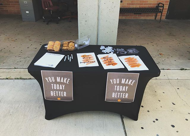 Today is national suicide prevention day!  Come grab a poster and cookie at lunch!! #nationalsuicidepreventionday #wspd19 #youmaketodaybetter @twloha