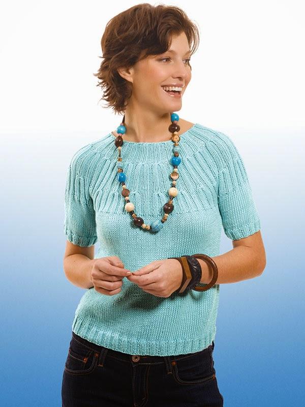 Berroco Modern Cotton Tee Free Knitting Pattern