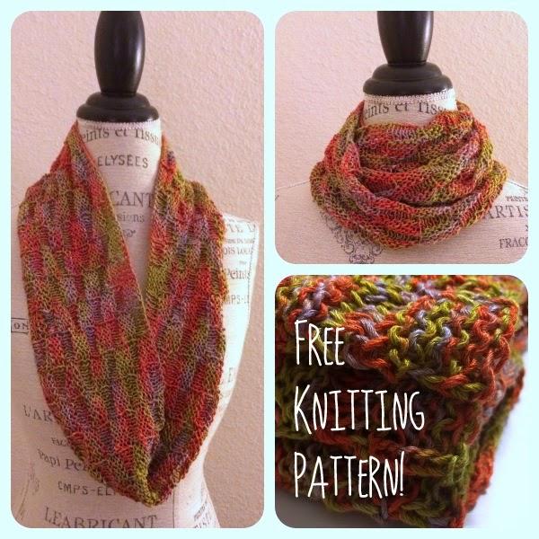 Viva Glitz Cowl Free Knitting Pattern