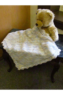 What to knit for baby? Easy Blanket Free Knitting Pattern