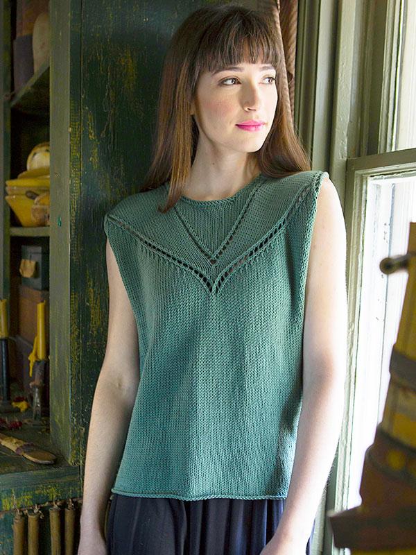Admit Sleeveless Tee Free Knitting Pattern