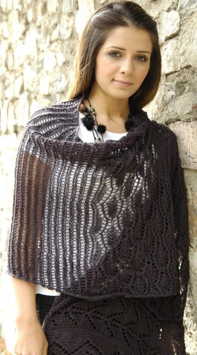 Jocelyn Flax Wrap Free Knitting Pattern