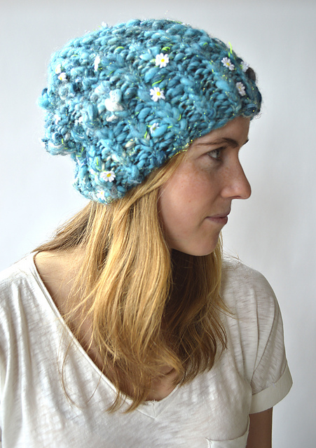 Ribby Slouch Hat Free Knitting Pattern