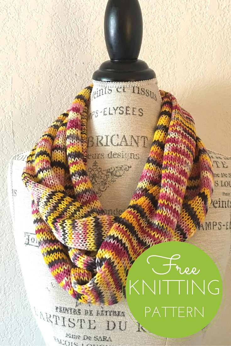 Artist Scarf/Cowl Free Knitting Pattern