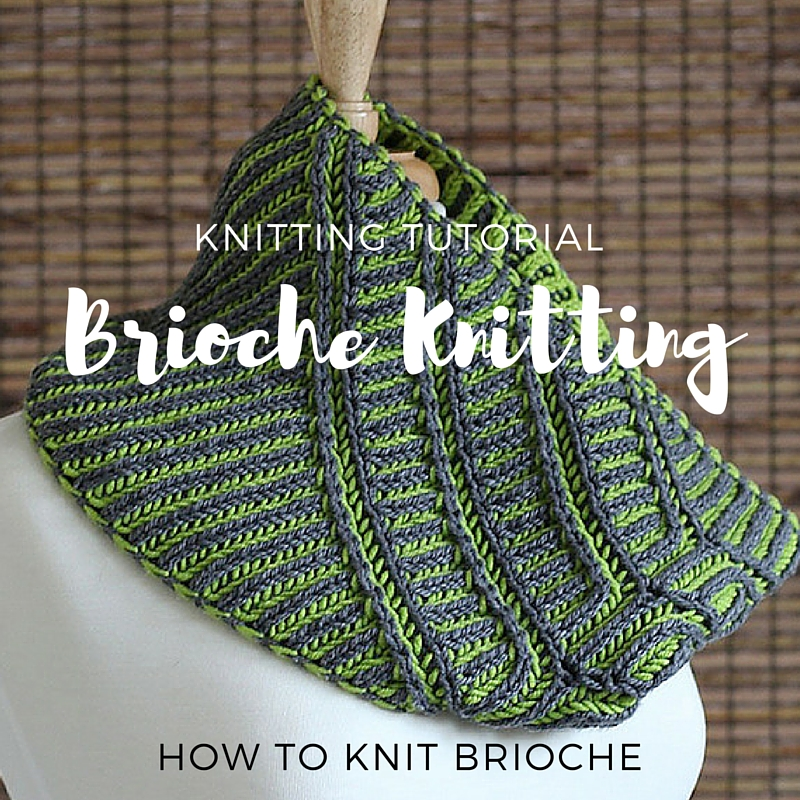 Unapologetic Knitter Slanted View Brioche Cowl Knitting Pattern
