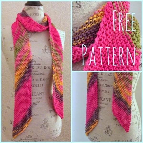Diagonal Scarf Free Knitting Pattern