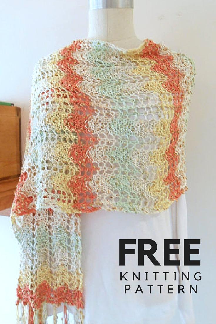 Vasari Fringed Shawl Free Knitting Pattern