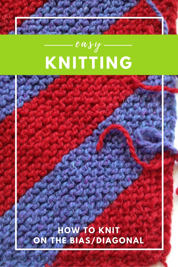 Learn how to Knit on the Bias