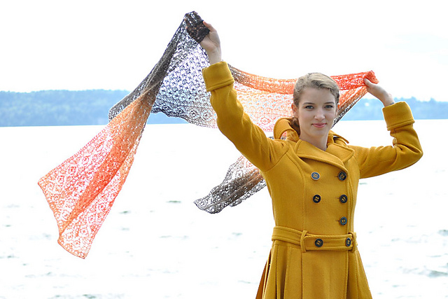 Ethereal Wrap Free Knitting Pattern