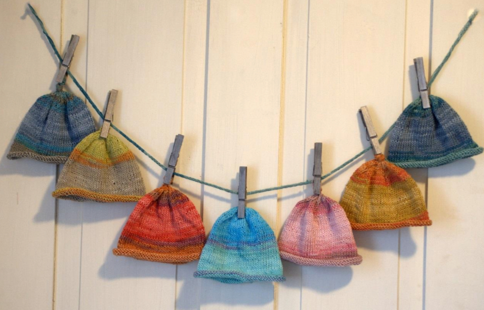 Rolled Brim Baby Hat Free Knitting Pattern