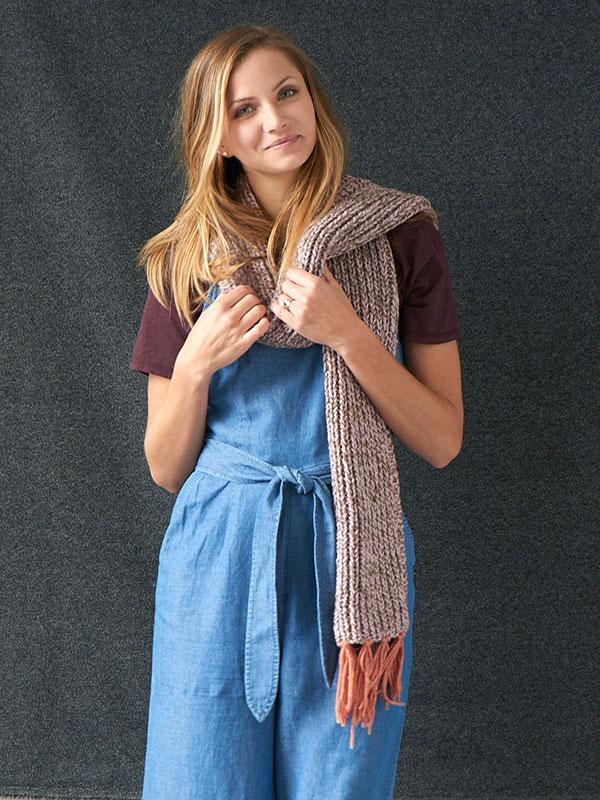 Franklin Scarf Free Knitting Pattern