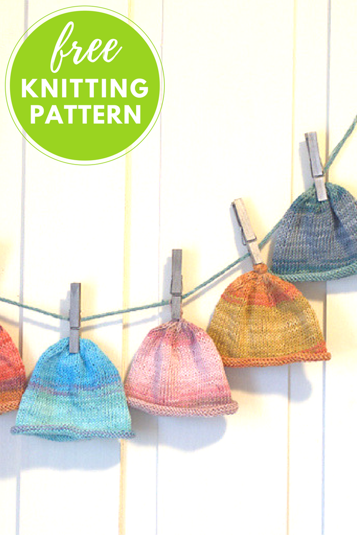 Easy Baby Hats Free Knitting Pattern - 1 Ball Project!