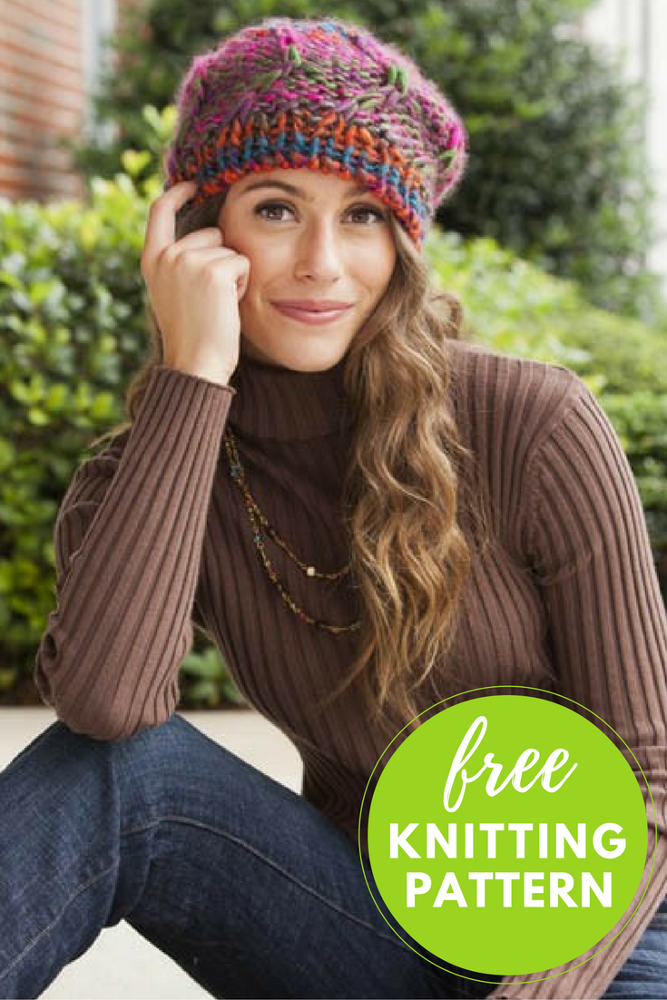 A Little to the Left Hat Free Knitting Pattern