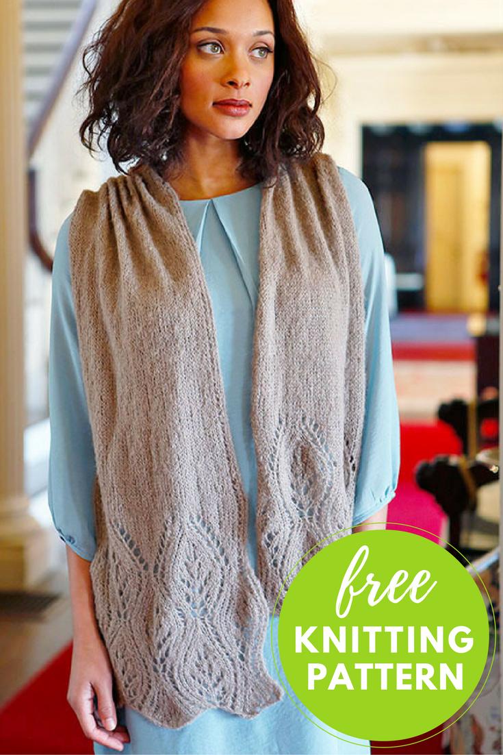 Waterhouse Lace Scarf Free Knitting Pattern