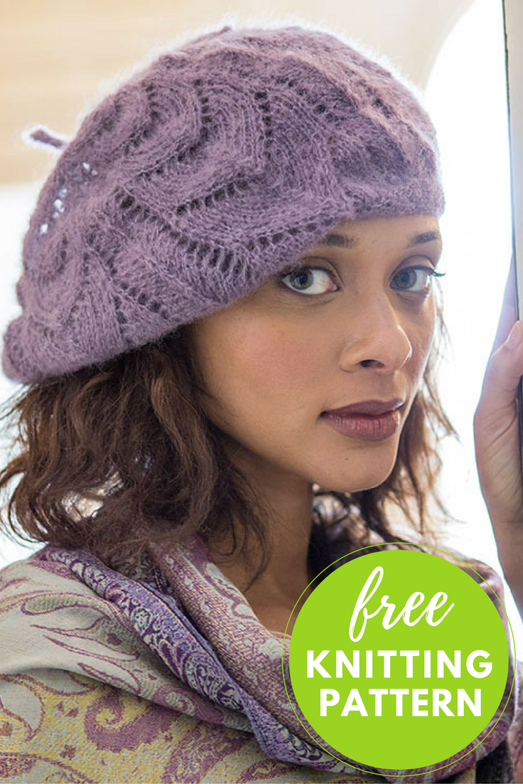 Collier Slouchy Hat Free Knitting Pattern
