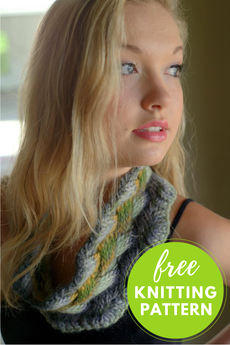 Lattice Cable Cowl Free Knitting Pattern - 1 skein project!