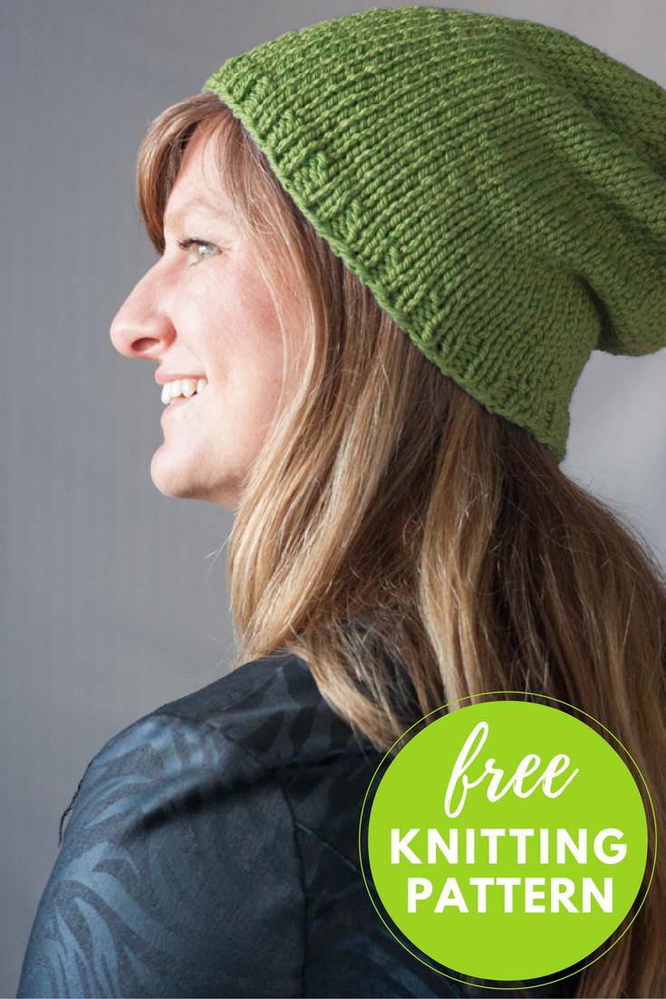 Baa Baa Beanie Free Hat Knitting Pattern - 1 skein project!