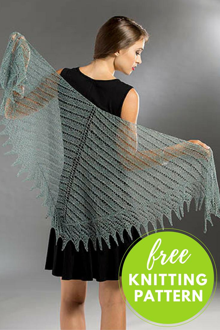 planetary shawl free knitting pattern