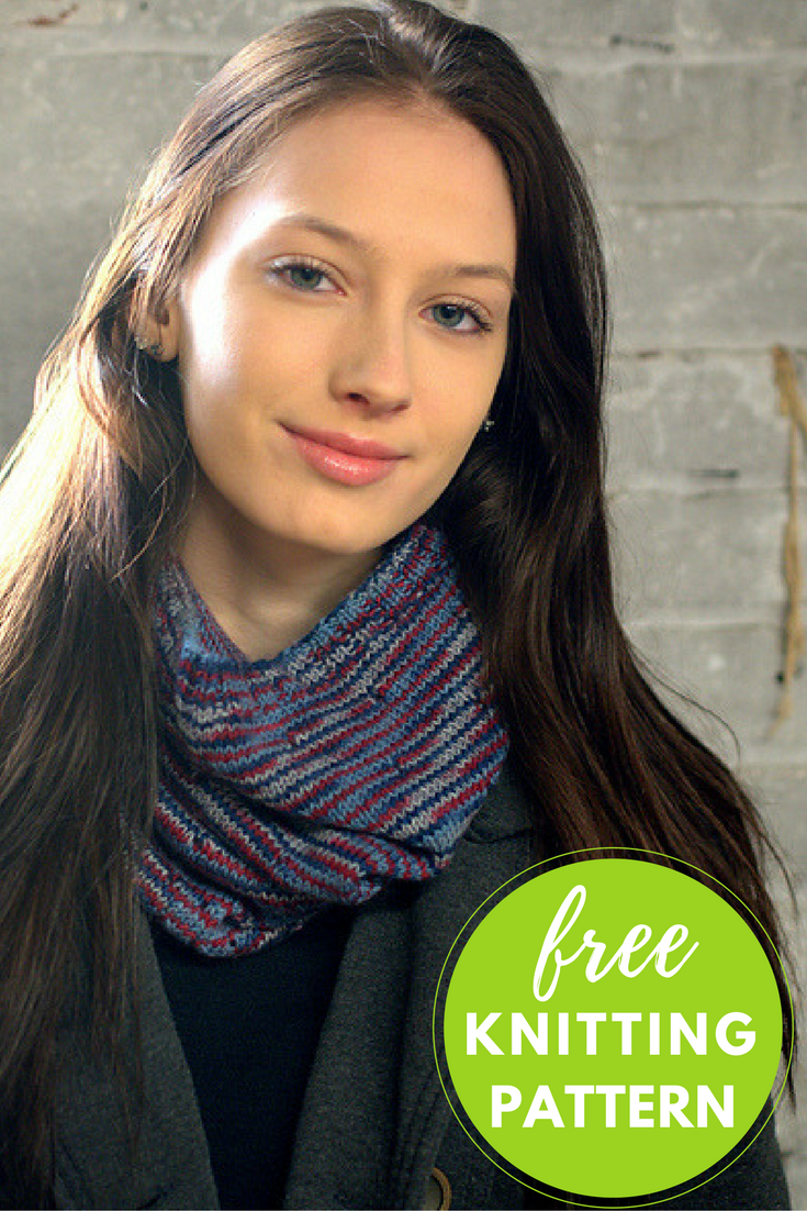 Americana Cowl Free Knitting Pattern