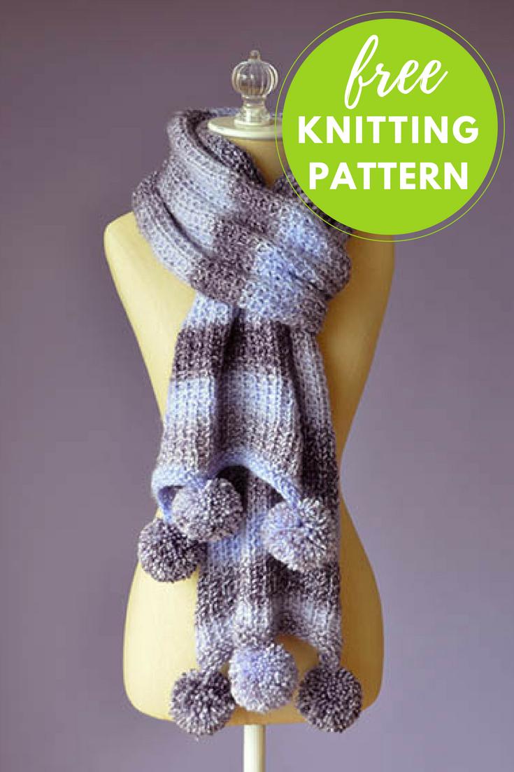 Pomtastic Scarf Free Knitting Pattern