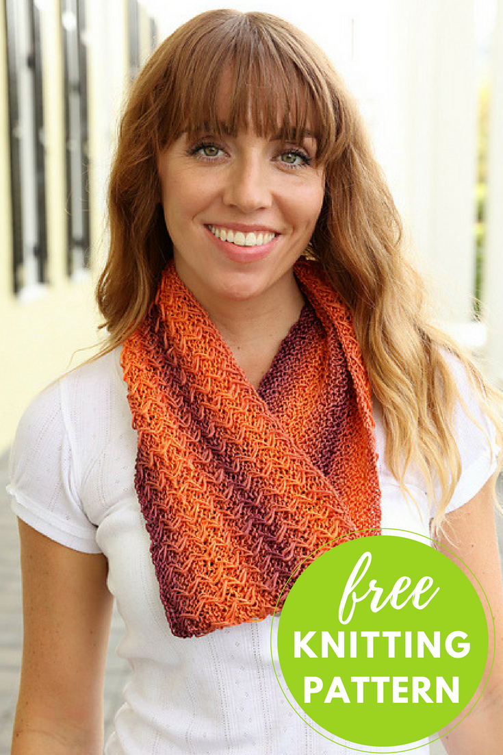 Pendenza Cowl Free Knitting Pattern - One Skein Project!