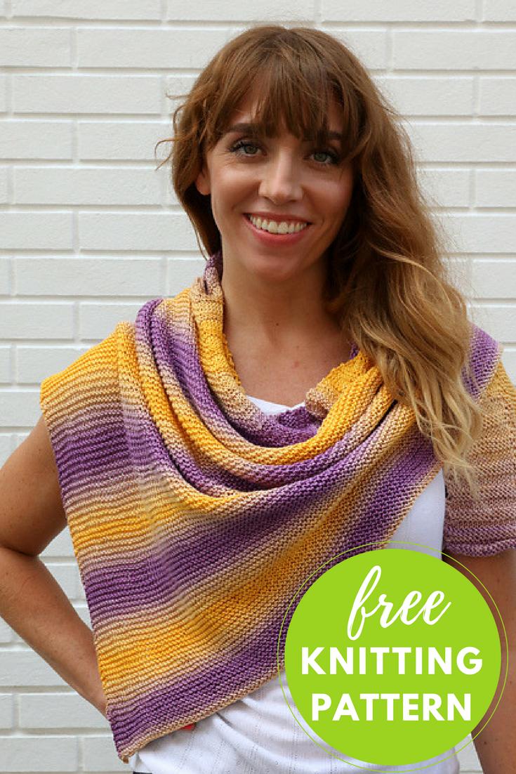 Pendenza Shawl Free Knitting Pattern