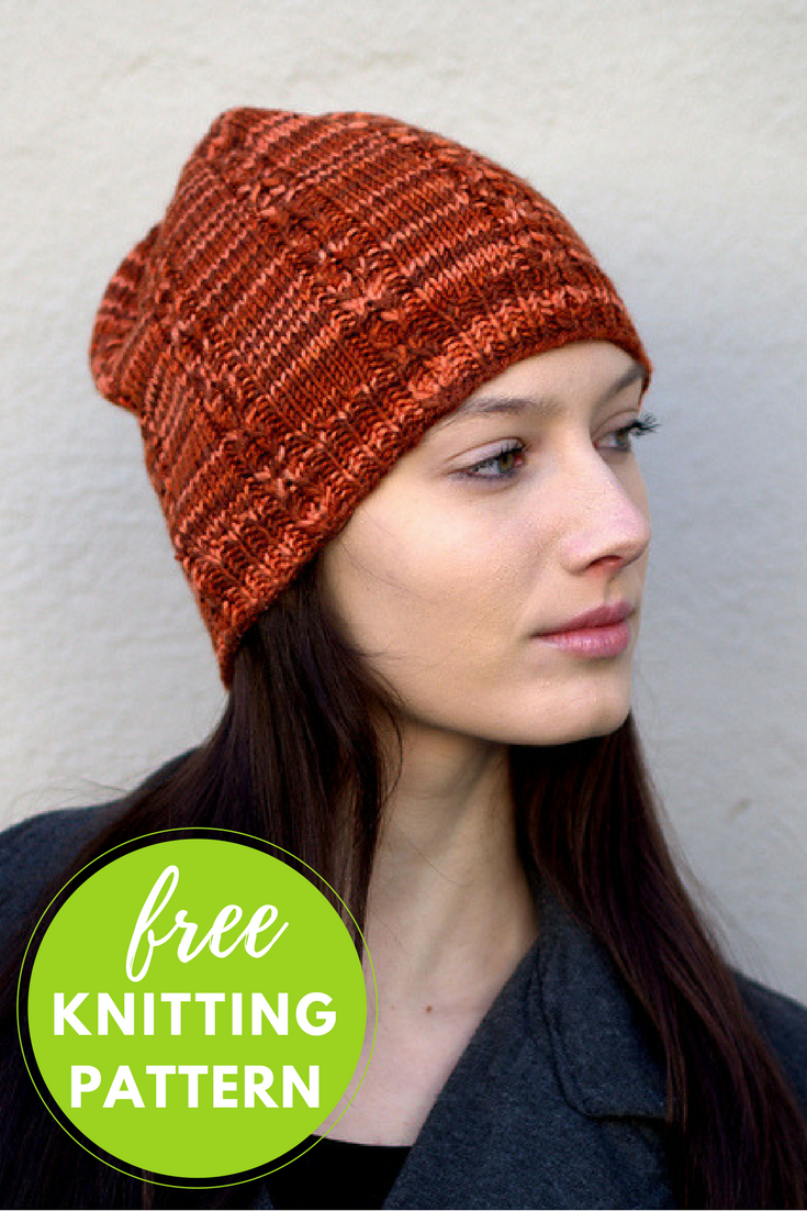 Reserve Hat Free Knitting Pattern - 1 skein project!
