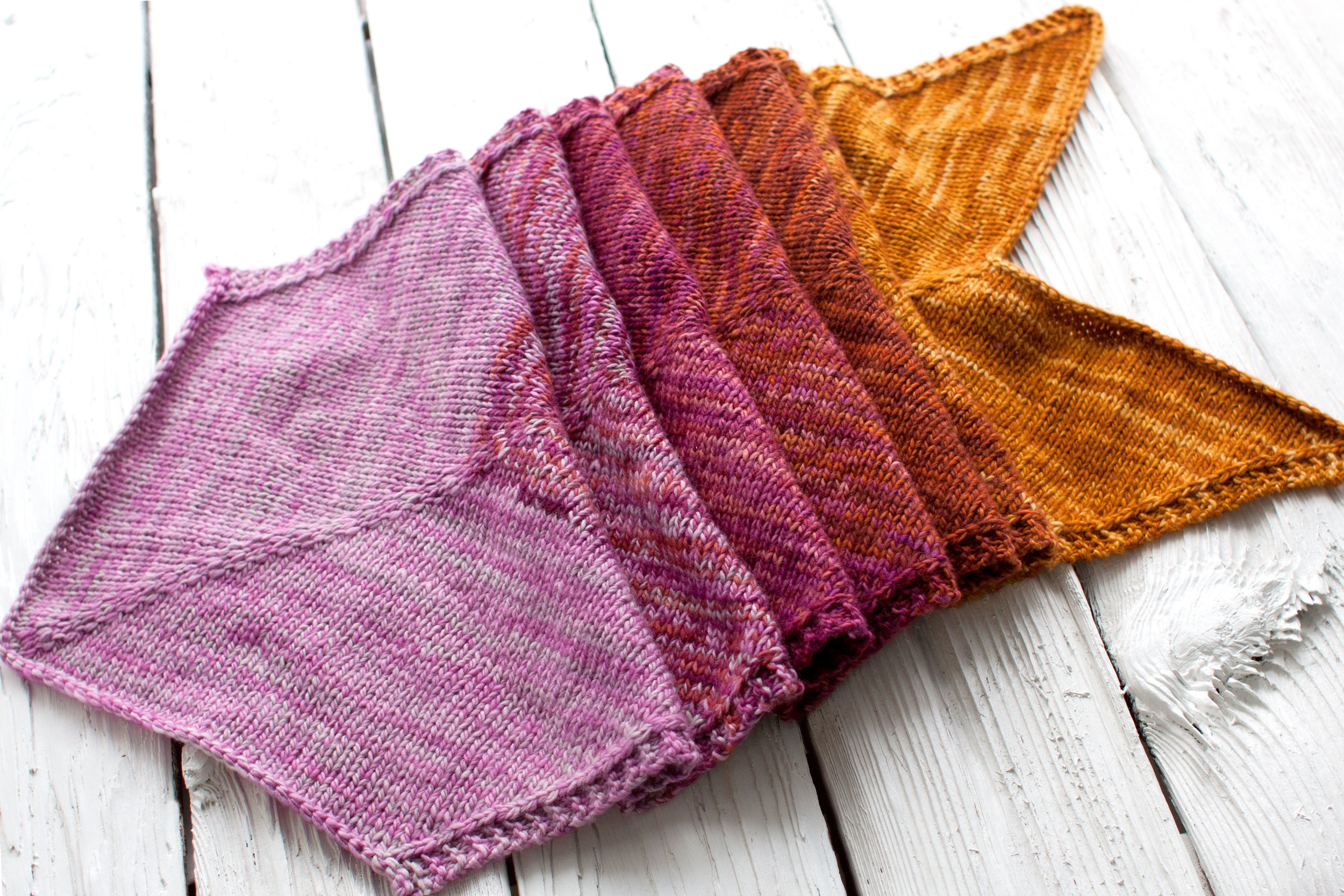Free Ombre Wrap Knitting Pattern