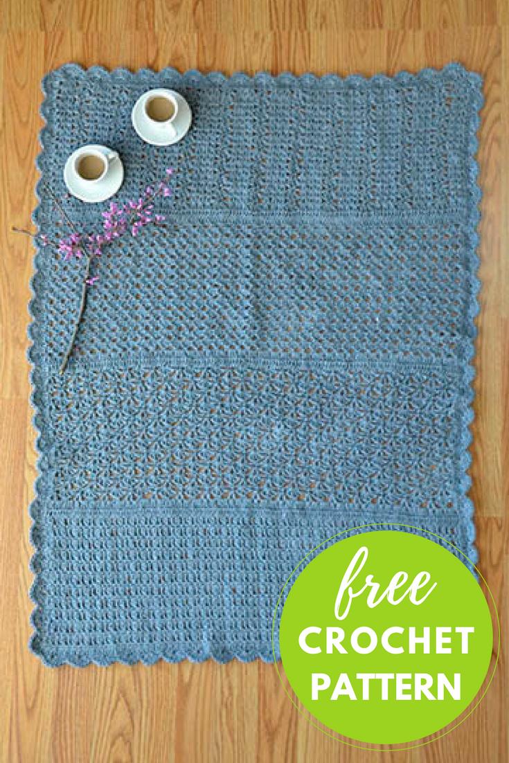 Barefoot Rug Free Crochet Pattern