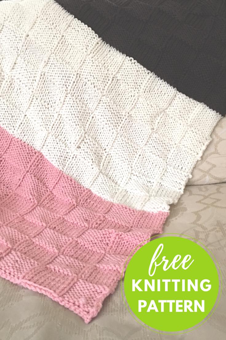 Neapolitan Baby Blanket Free Knitting Pattern #craftynotbored