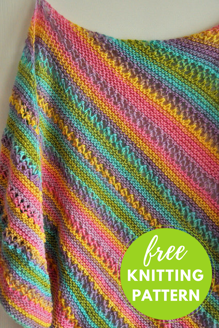 Gina Ridged Shawl Free Knitting Pattern