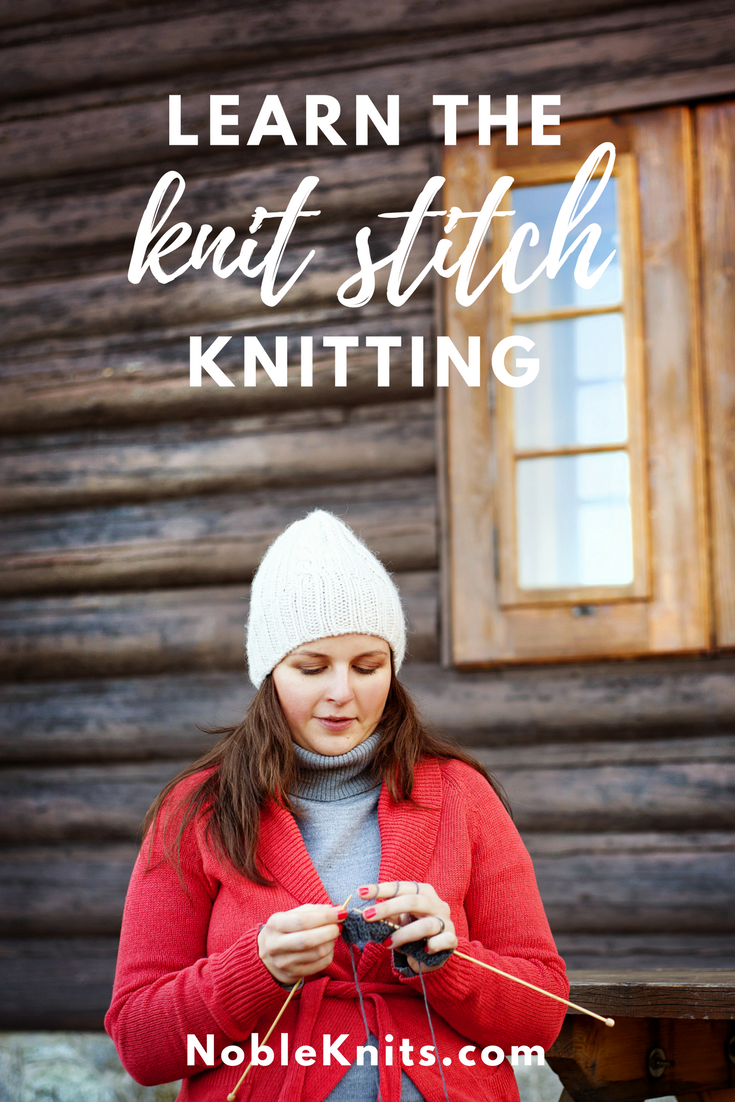 How to Make the Knit Stitch Knitting