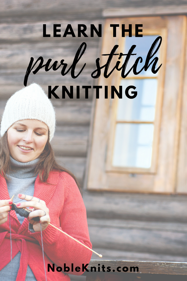 How to make the purl stitch in knitting