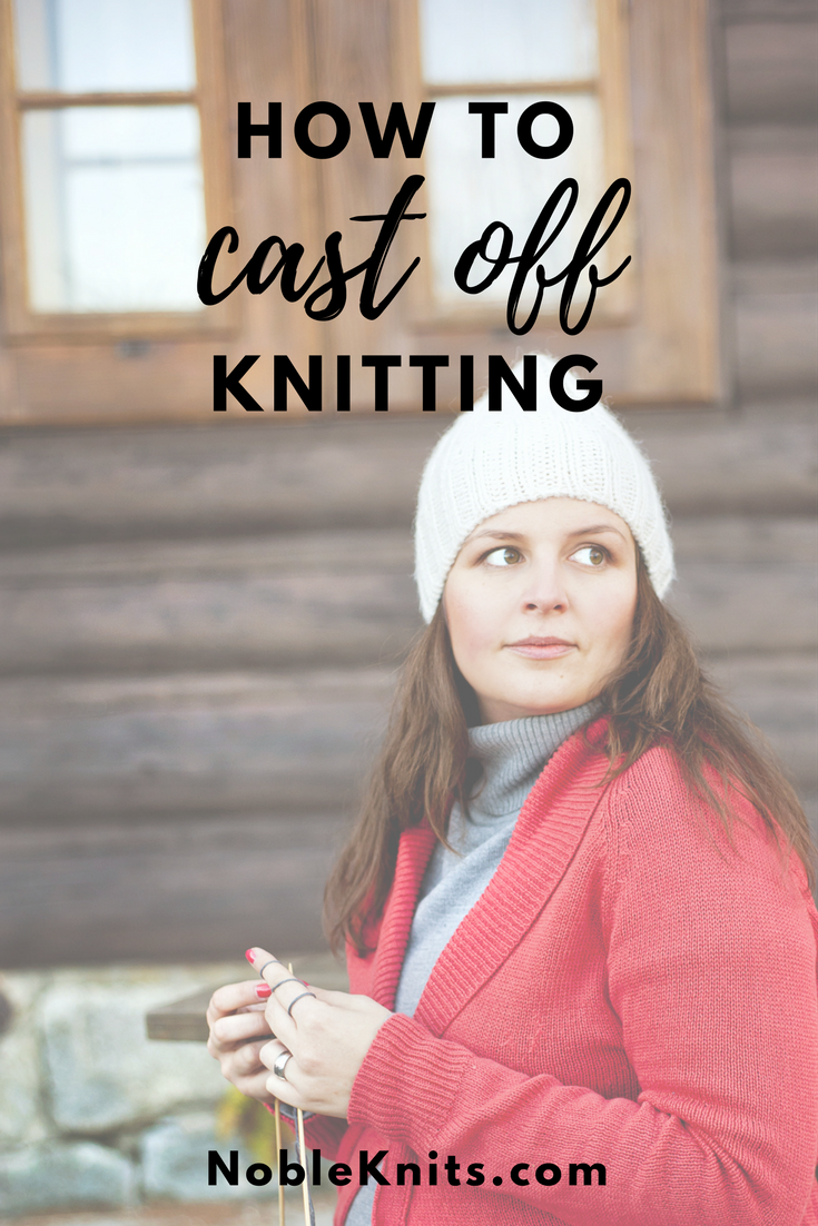 Learn how to take knitting off the needle or Bind Off in knitting