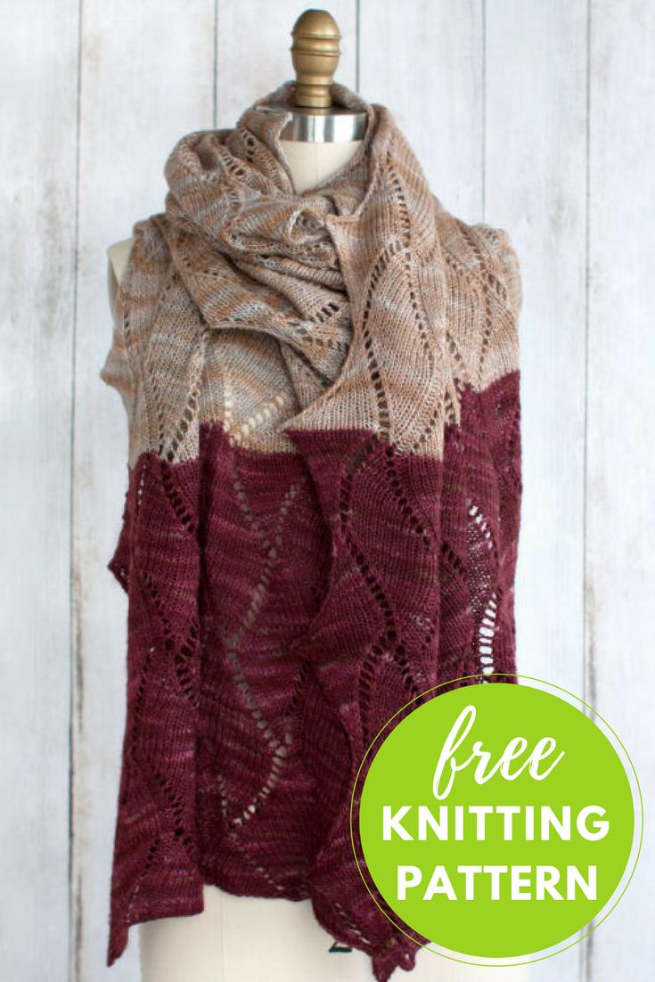 Seesaw Wrap Free Knitting Pattern