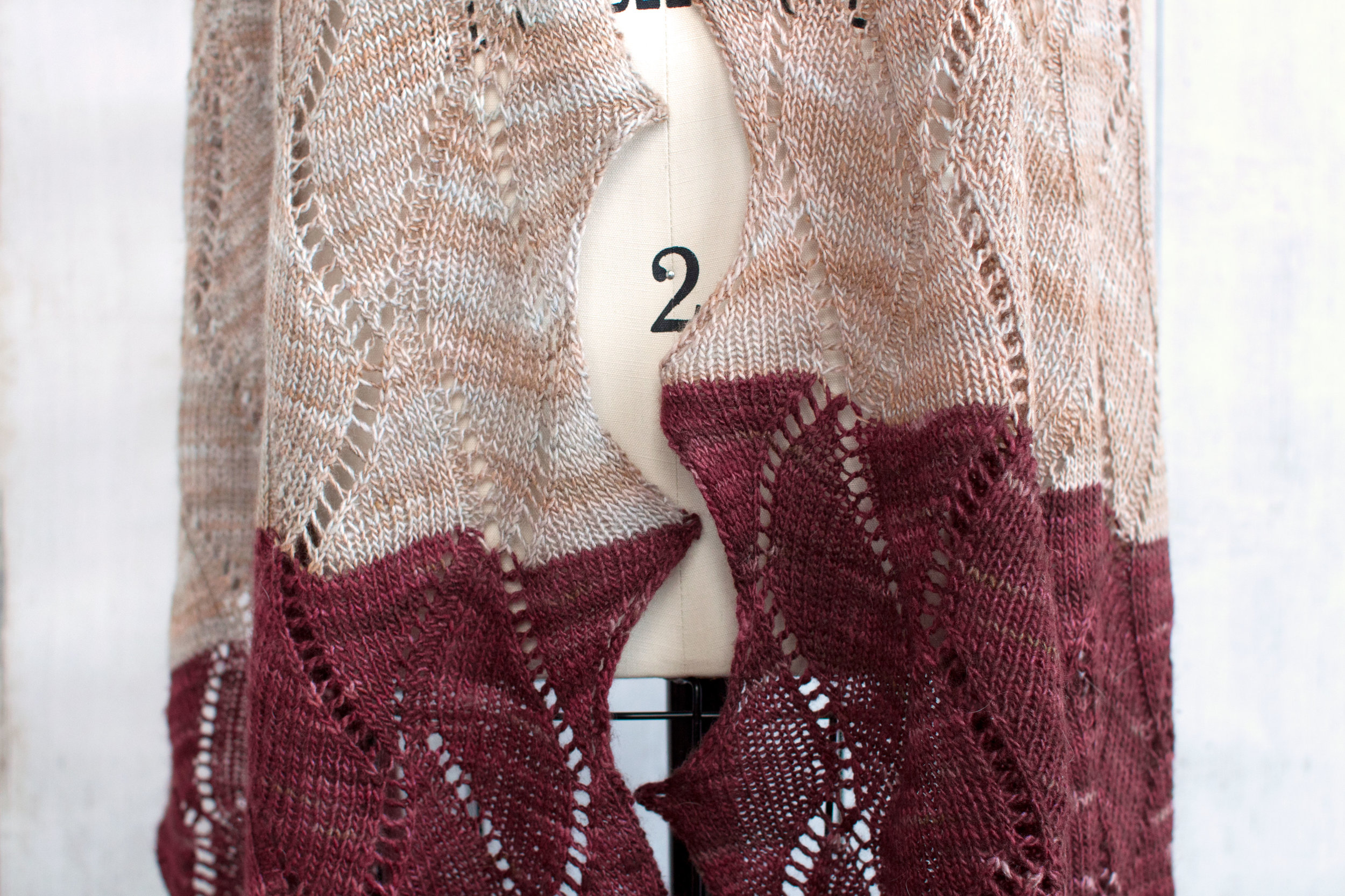 Seesaw Lace Wrap Free Knitting Pattern