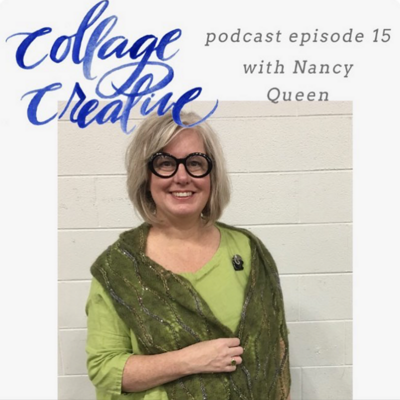 Collage Creative Podcast with Nancy Queen of NobleKnits.com