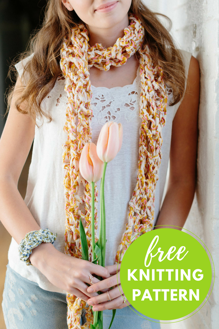 Peace Out Scarf Free Knitting Pattern