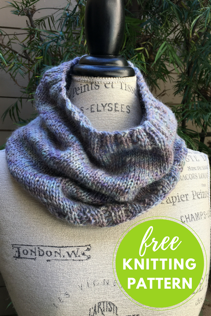 Easy Collage Cowl Free Knitting Pattern